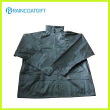 Waterproof Polyester PVC Men′s Rain Jacket Rpe-104