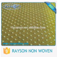 Textile de polyester écologique avec des points de silicium pour des pantoufles jetables