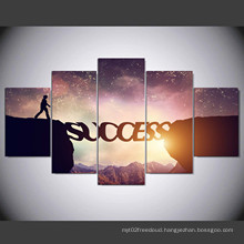 """5 Panel HD Printed Modular Canvas Painting """"Success"""" Canvas Print Art Modern Home Decor Wall Art Picture for Living Room Mc-155"""