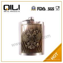 FDA lujo 6oz frasco de águila grande personalizada con placa