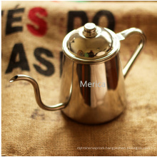 Stainless Steel Goose Neck Long Lip Coffee Pot