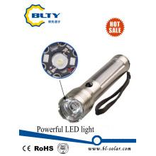 Linterna solar recargable con panel solar y LED