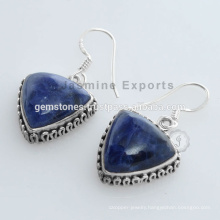 Designer Indian Christmas Earring With Semi Precious Silver Gemstone For Christmas