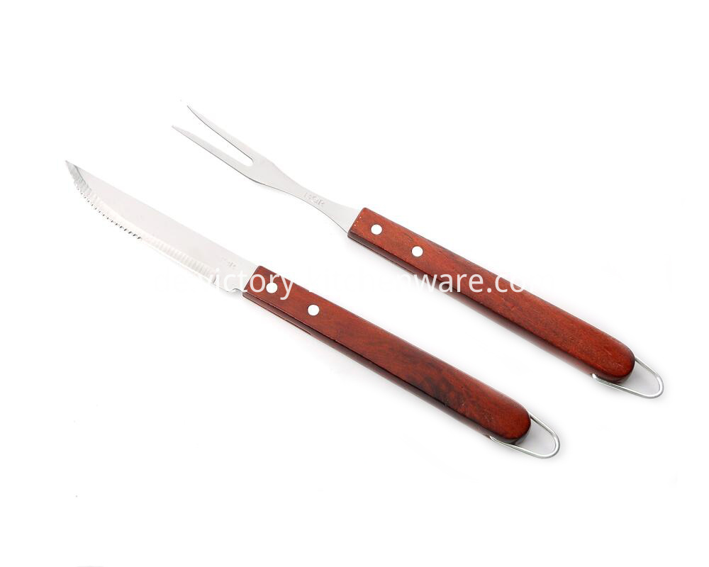 barbecue knife and fork