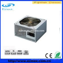 Dongguan Fabricant hot-selling 500W alimentation PC adaptateur pour PC pour ATX V2.3 avec 12CM silent fan