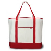 Extra large natural open top canvas bag
