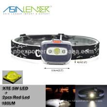 Para correr, camping, caza, niños, blanco, rojo, luces estroboscópicas linterna ultra brillante LED faro