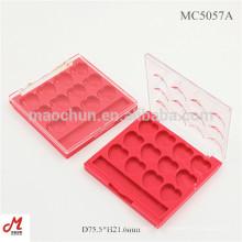 MC5057A Pour 12 couleurs Coffret en forme de coeur Carré Etui compact