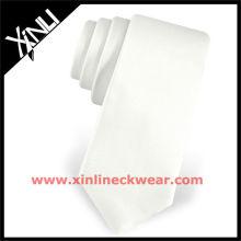 2013 neue Großhandel Seidenkrawatten dünne weiße Krawatte