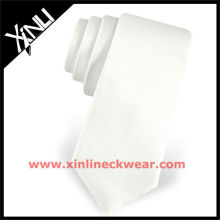 2013 nuevos lazos de seda al por mayor flaco blanco corbata