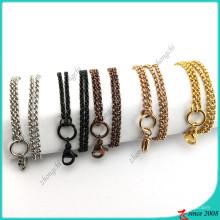 Atacado aço inoxidável Rolo cadeia colar (fn16041802)