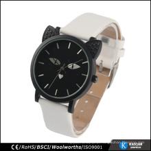 Relógio de qualidade animal relógio de aço inoxidável volta cor preta