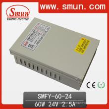 Fuente de alimentación a prueba de lluvia a prueba de lluvia de 60W 24V 2.5A LED