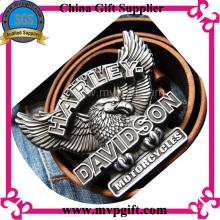Hebilla de cinturón de metal a medida con el logotipo del cliente en 3D