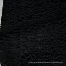 Atacado de alta qualidade algodão rayon mistura de tecido de pele falsa para casaco