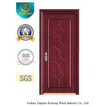 Puerta de MDF de estilo chino simplificado para interiores con madera maciza (xcl-029)