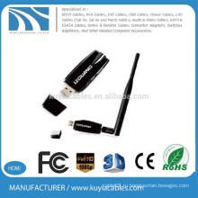 Новый дизайн высокой мощности 300Mbps 802.11n USB беспроводной карты LAN 5dbi