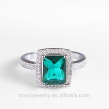 Anneau de diamants de luxe en strass anneau de diamant élégant pour femme