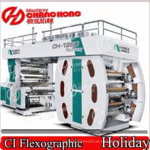 Plastikraps-Papier-Flexodruckmaschine (zentrale Trommel)