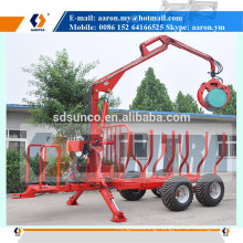 3 Ton Forest Trailer with Hydraulic Loading Crane