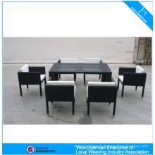 Restaurant Table à manger Set Table et chaises en rotin
