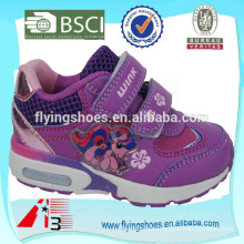 High heel top one girls sports shoes with pink cartoon