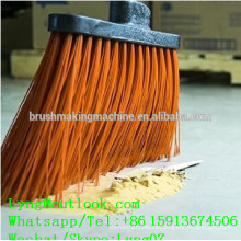 Manual broom tufting machine