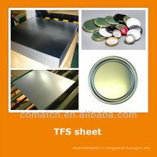 EN10202 standard Tin gratuit tôle d'acier pour manger boire peut se termine