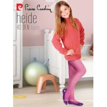 Pierre Cardin OEM Wholesale Kids Girl Micro Tights Patterned Pantyhose Multi Colors