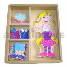 Wooden Dress up Box Girl (80909)