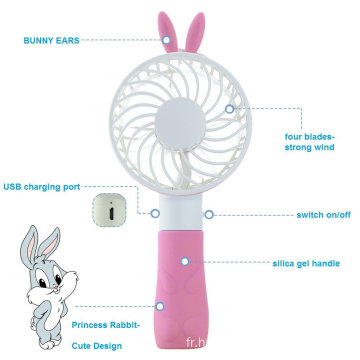 Ventilateur portatif personnel de mini rabbit de lapin USB mini