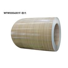 Wood grain metal laminate sheets