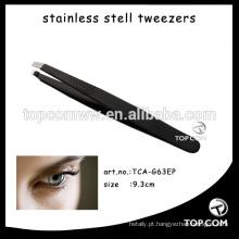 Grande senhora aço inoxidável ferramenta forma / sobrancelha clip pinça