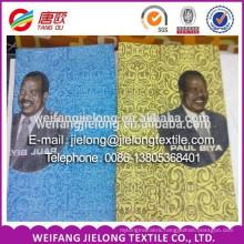 Custom election campaign wax print fabric /Customized election campaign print fabric /Custom election campaign fabric