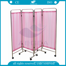 AG-SC001 201 stainless steel frame with wheels four folding mobile patient screen