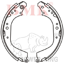 Premier Quality Brake Shoe (K1208) for Japanese Car
