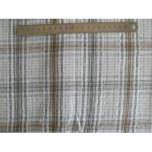 32′s Cotton Seersucker Crimp Cloth Yarn Dyed Fabric