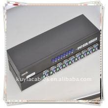 Бренд 8port Ps2 Kvm Switch для управления восемью компьютерами