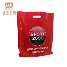 dissolvable punch die cut plastic bag with logo