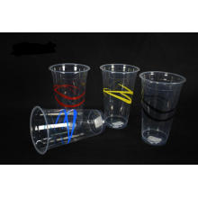 500ml Disposable Ribbon Plastic Cup