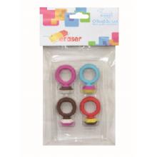 4pcs Finger Ring Eraser