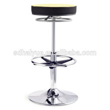 2017 High Quality black/yellow Fabric Swivel Bar Chair Counter Chair with swaying base
