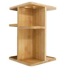 Kundenspezifische Holz-Präsentationsregale Bambus-Ausstellungsthekenständer