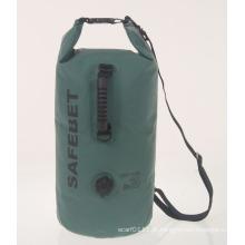 Saco ao ar livre seco do tubo do punho impermeável inflável dos esportes 25L (YKY7301)