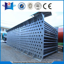 Steelwork tube heat exchanger without polluting dried material
