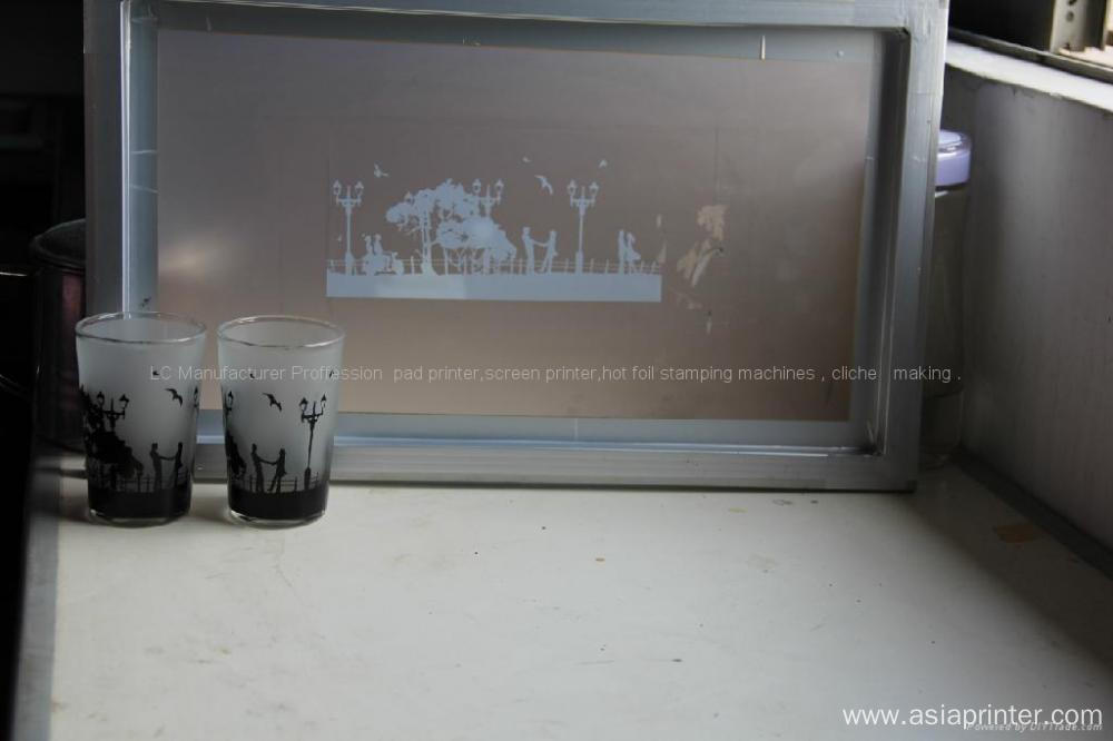 cosmetic bottles screen printing machine