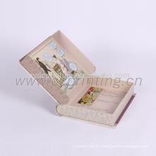 Classical custom printing book shape paper gift box packaging