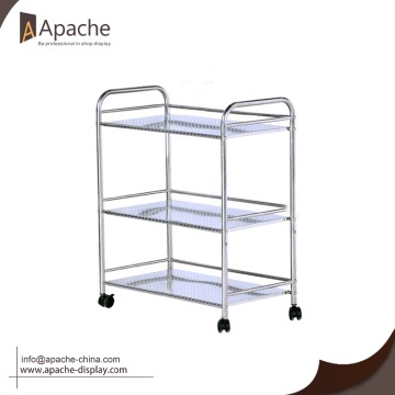 Professional supply Moveable metal desk organizer shelf with wheels