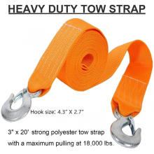 Roadway emengency tow strap for car