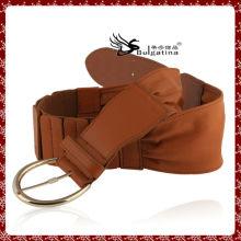 Última cinto de couro de design, marrom cinto de couro de patente para as mulheres
